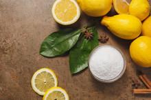 Citric Acid And Lemons.