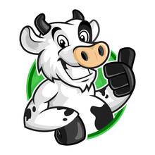 Cow Mascot Logo, Vector Of Cow...