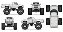 Monster Truck Vector Mockup Fo...
