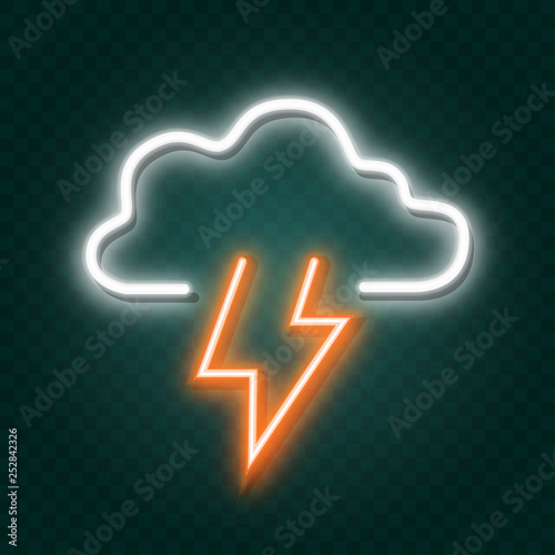 Poster Retro sign storm neon sign