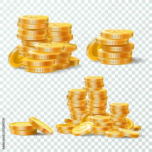 Cuadros en Lienzo  Stack of gold coins