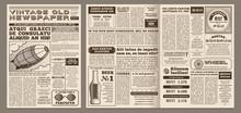 Vintage Newspaper Template. Re...