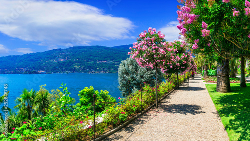 Cadres-photo bureau Bleu ciel scenic lake Lago Maggiore - beautiful