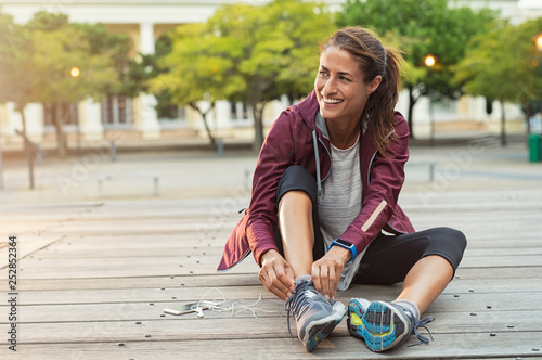 Papiers peints Jogging Woman wearing sport shoes