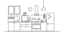 Stylish Interior Of Kitchen Fu...