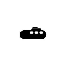 Submarine Icon Vector. Submarine Sign On White Background. Submarine Icon For Web And App