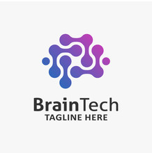 Brain Tech Logo Design