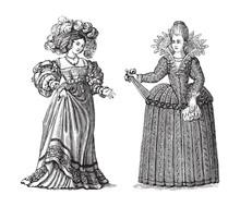 Woman Fashion - German (left) ...