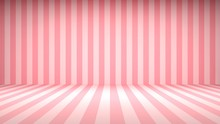 Striped Candy Pink Studio Backdrop With Empty Space For Your Content