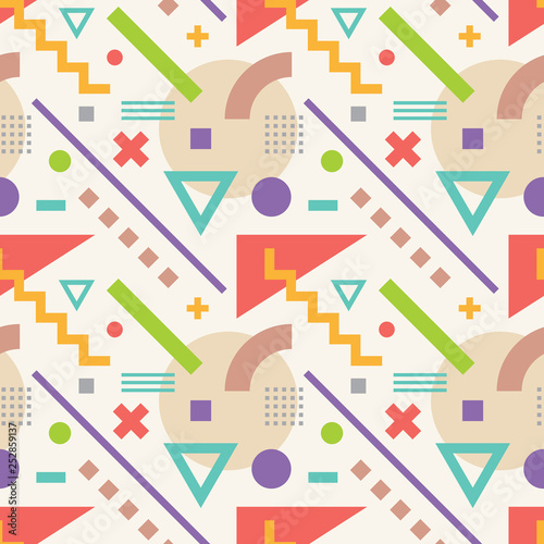 Abstract geometric background vector seamless pattern in