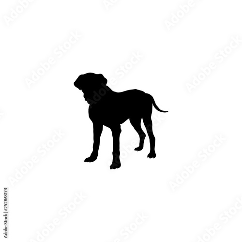 Printed kitchen splashbacks Panther dog icon vector. dog sign on white background. dog icon for web and app