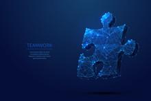 Puzzle Low Poly Blue