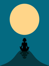 Silhouette Of A Girl Against T...