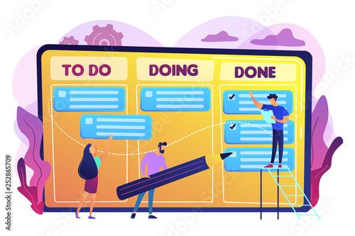 Task management concept vector illustration. Fototapete