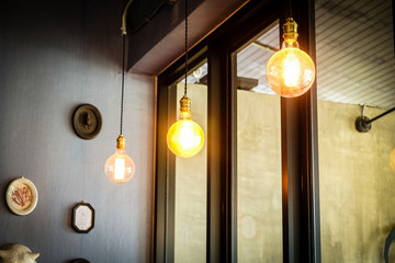 lamp in the cafe
