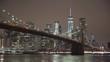 New York and Brooklyn Bridge at Night