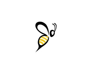 pčelinji logotip i predlošci vektora simbola