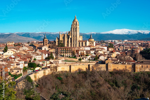 Segovia view from the top of Alcazar, Spain