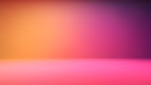 Colorful Gradient Studio Backdrop With Empty Space For Your Content