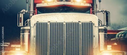 Shiny American Semi Truck