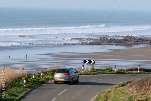 Fotografie, Obraz Widemouth Bay, Cornwall, England, UK