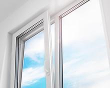 Open Window. PVC Plastic. 3d Illustration