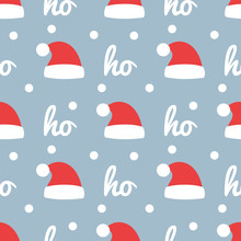 Santa Claus Hats Wrapping Paper Design.