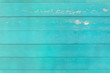 canvas print picture - Cyan Wood texture for background