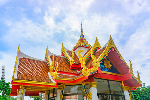 Foto  Low angle view - Buddhist Temple in Thailand