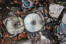 CD's Thrown Away In Garbage Du...