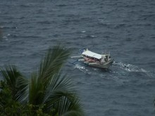 Outrigger On The Ocean During ...