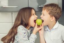 Eating Apple Together