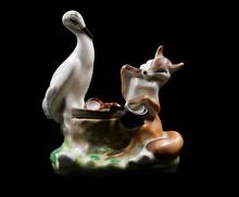 """the Fox And The Crane"" Sculpt..."