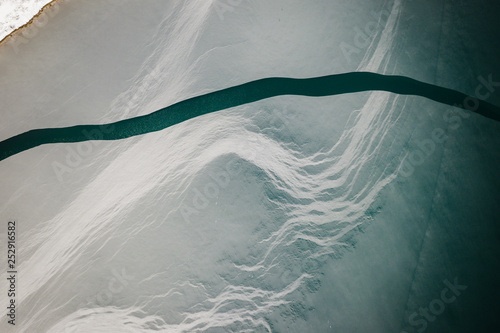 Poster Taupe Aerial of Abstract Snow Landscape
