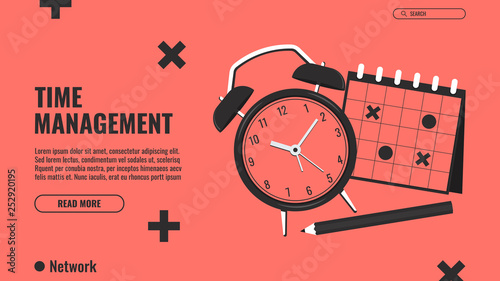 Photo  Time management concept illustration, organization, working time