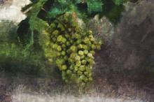 Oil Painting. Brush Of Green G...