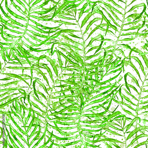 Recess Fitting Tropical Leaves Tropical seamless pattern. Watercolor tangled palm