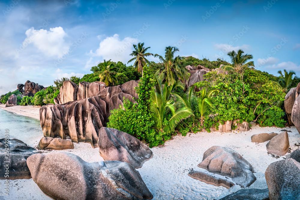 Fototapety, obrazy: Strand Anse Source d'Argent, La Digue, Seychellen
