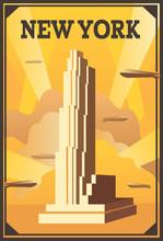 Vector Retro Poster In Art Dec...