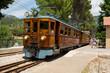 Zugfahrt von Sóller nach Banyola auf Mallorca in Spanien