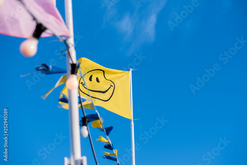 Smile flag Wallpaper Mural