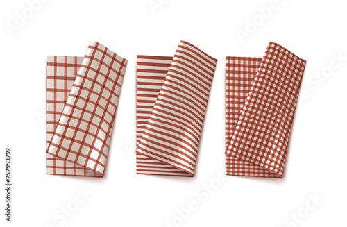 Fototapeta Plaid Kitchen Linen obraz