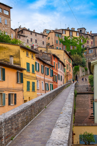 new styles 21a77 a3ccd Perugia, Italy - Panoramic view of the historic aqueduct ...