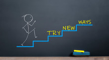 Busines Start Concept. Try New Ways For Success