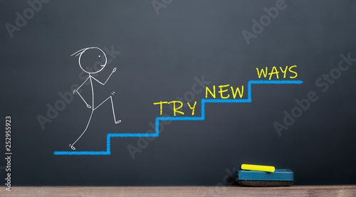 Cuadros en Lienzo busines start concept. try new ways for success