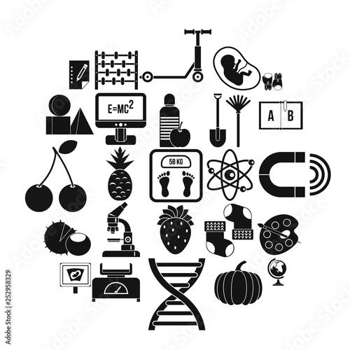 Fotografia  Scientific approach icons set