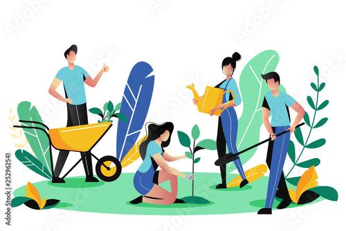 Stampa su Tela Volunteering, charity social concept