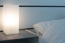 Modern Square Lamp On A Nights...