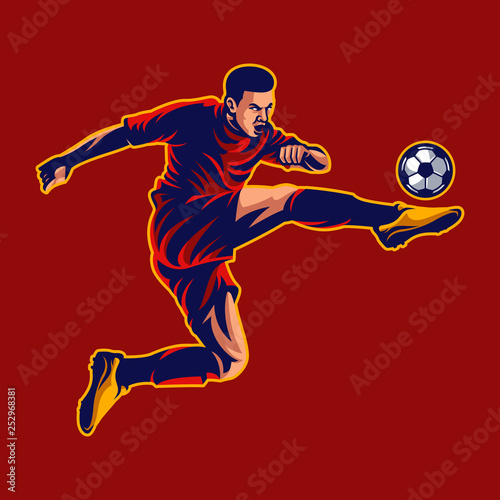 Soccer player vector Canvas-taulu