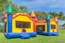 Two Multi-color Castle Bounce ...